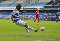 Osman Kakay of Queens Park Rangers crosses the ball during Queens Park Rangers vs Fulham, Sky Bet EFL Championship Football at the Kiyan Prince Foundation Stadium on 30th June 2020