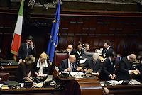 Roma, 15 Marzo 2013.Montecitorio, Camera dei Deputati.Primo giorno in Aula della XVII Legislatura del Parlamento italiano.Il primo spoglio dei voti per il Presidente della Camera