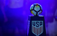 Orlando, FL - Friday Oct. 06, 2017: NIKE game ball, USA during a 2018 FIFA World Cup Qualifier between the men's national teams of the United States (USA) and Panama (PAN) at Orlando City Stadium.
