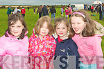 ENJOYING: Enjoying the cross country races in Ardfert on Sunday l-r: Laura Kenny, Juliet Cooper, Rebecca Kenny and Amy Cooper...