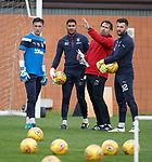 Goalkeeping coach Jose Belman with Wes Foderingham, Aiden McAdams and Liam Kelly
