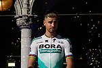 Peter Sagan (SVK) Bora-Hansgrohe at the team presentation held on the Grand-Place before the 2019 Tour de France starting in Brussels, Belgium. 4th July 2019<br /> Picture: Colin Flockton | Cyclefile<br /> All photos usage must carry mandatory copyright credit (© Cyclefile | Colin Flockton)