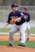 March 18, 2010:  Pitcher Kane Holbrooks (67) of the Minnesota Twins organization during Spring Training at the Ft. Myers Training Complex in Ft. Myers, FL.  Photo By Mike Janes/Four Seam Images