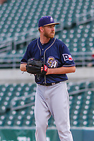 San Antonio Missions pitcher Michael Tonkin (32) on the mound during a Pacific Coast League game against the Iowa Cubs on May 2, 2019 at Principal Park in Des Moines, Iowa. Iowa defeated San Antonio 8-6. (Brad Krause/Four Seam Images)