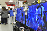 Nov. 23, 2012 - Bellmore, New York, U.S. - Customers shopping at local store PC Richard & Son, an appliance and electronics store on Long Island, on Black Friday, the big shopping day after Thanksgiving, with holiday sales and decorations.