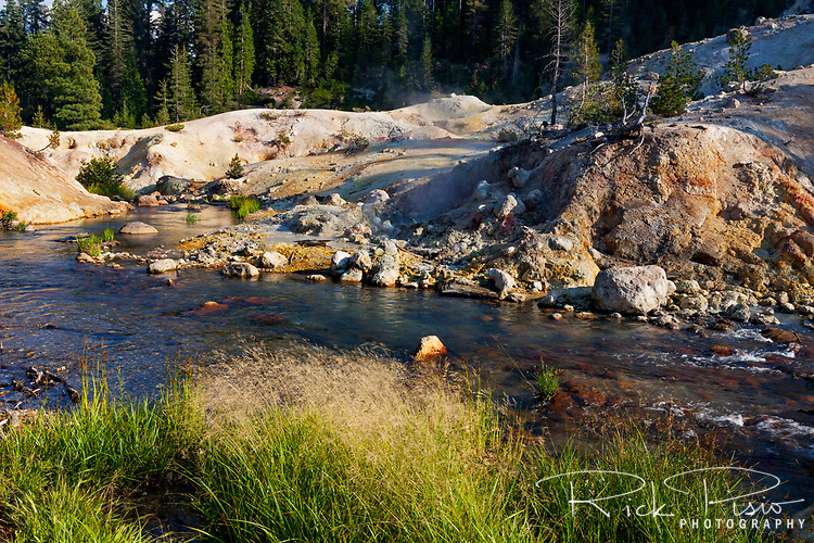 Hot Springs Creek flows through the Devils Kitchen area of Lassen Volcanic National Park