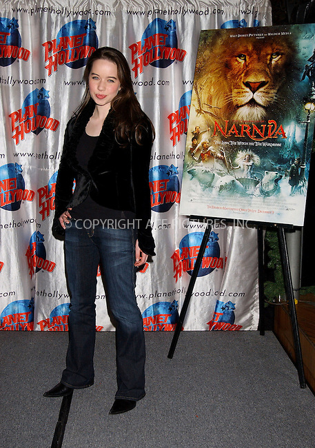 WWW.ACEPIXS.COM . . . . . ....NEW YORK, DECEMBER 9, 2005......Anna Popplewell at the cast appearance of Disney Pictures new film 'The Chonicles of Narnia' held at Planet Hollywood.......Please byline: KRISTIN CALLAHAN - ACEPIXS.COM.. . . . . . ..Ace Pictures, Inc:  ..Philip Vaughan (212) 243-8787 or (646) 679 0430..e-mail: info@acepixs.com..web: http://www.acepixs.com