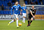 St Johnstone v Hamilton Accies&hellip;10.11.18&hellip;   McDiarmid Park    SPFL<br />Drey Wright breaks forward<br />Picture by Graeme Hart. <br />Copyright Perthshire Picture Agency<br />Tel: 01738 623350  Mobile: 07990 594431