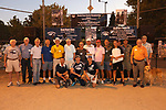 A group of supporters and alumni which helped bring back the Nevada Men's Cross Country team to compete for the first time in 25 years in the Bonanza Casino Nevada Twilight Classic season opener at Mira Loma Park in Reno on Friday night, August 30, 2019.