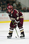 "19 January 2007: Boston College defenseman Brett Motherwell from St. Charles, IL, in action during a Hockey East matchup against the University of Vermont at Gutterson Fieldhouse in Burlington, Vermont. The UVM Catamounts defeated the BC Eagles 3-2 before a record setting 50th consecutive sellout at ""the Gut""...Mandatory Photo Credit: Ed Wolfstein Photo."