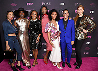"""LOS ANGELES - JUNE 1: (L-R) Cast members Indya Moore and Billy Porter, Co-Executive Producer/Writer/Director Janet Mock, cast members Dominique Jackson and Mj Rodriguez, Co-Creator/Executive Producer/Writer Steven Canals and Supervising Producer/Writer Our Lady J attend the FYC Event for Fox 21 TV Studios & FX Networks """"Pose"""" at The Hollywood Athletic Club on June 1, 2019 in Los Angeles, California. (Photo by Stewart Cook/FX/PictureGroup)"""