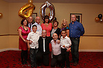 Richard Byrne celebrating his 40th Birthday with his wife Denise and kids Keane, Kyle and Ryan and his brothers and sisters in the Boyne Valley Hotel.Picture: Fran Caffrey/Newsfile.ie