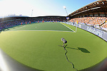 The Hague, Netherlands, June 06: View of the pitch before the field hockey group match (Men - Group B) between Germany and The Netherlands on June 6, 2014 during the World Cup 2014 at Kyocera Stadium in The Hague, Netherlands. Final score 0-1 (0-1) (Photo by Dirk Markgraf / www.265-images.com) *** Local caption ***