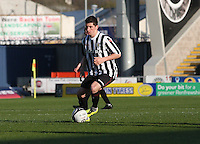Kenny McLean in the St Mirren v Falkirk Clydesdale Bank Scottish Premier League Under 20 match played at St Mirren Park, Paisley on 30.4.13.