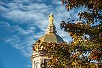 BJ 10.11.16 Golden Dome 10495.JPG by Barbara Johnston/University of Notre Dame