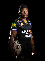 Kyle Eastmond poses for a portrait in the 2015/16 European kit during a Bath Rugby photocall on September 8, 2015 at Farleigh House in Bath, England. Photo by: Patrick Khachfe / Onside Images