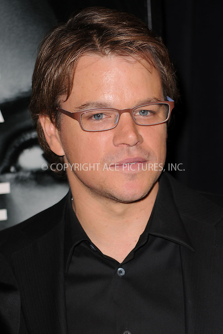 WWW.ACEPIXS.COM . . . . . .February 14, 2011...New York City... Matt Damon attends The World Premiere of The Adjustment Bureau Ziegfeld Theater on Frebruary 14, 2011 in New York City....Please byline: KRISTIN CALLAHAN - ACEPIXS.COM.. . . . . . ..Ace Pictures, Inc: ..tel: (212) 243 8787 or (646) 769 0430..e-mail: info@acepixs.com..web: http://www.acepixs.com .