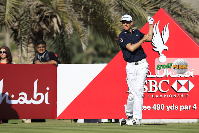 Christian Cevaer (FRA) tees off the 14th tee during Friday's Round 2 of the Abu Dhabi HSBC Golf Championship at Abu Dhabi Golf Club, 18th January 2013 (Photo Eoin Clarke/www.golffile.ie)