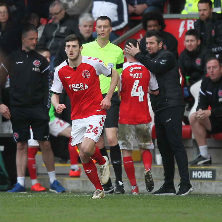 Fleetwood Town's Ashley Nadesan  replaces  Jason Holt<br /> <br /> Photographer Mick Walker/CameraSport<br /> <br /> The EFL Sky Bet League One - Fleetwood Town v Luton Town - Saturday 16th February 2019 - Highbury Stadium - Fleetwood<br /> <br /> World Copyright © 2019 CameraSport. All rights reserved. 43 Linden Ave. Countesthorpe. Leicester. England. LE8 5PG - Tel: +44 (0) 116 277 4147 - admin@camerasport.com - www.camerasport.com