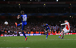 Arsenal's Alex Oxlade-Chamberlain scoring his sides opening goal<br /> <br /> Champions League - Arsenal  vs AS Monaco  - Emirates Stadium - England - 25th February 2015 - Picture David Klein/Sportimage