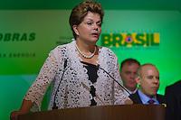 RIO DE JANEIRO, RJ, 13 DE FEVEREIRO DE 2012 - Cerimônia de Posse da nova Presidente da Petrobrás  - A Presidente Dilma Roussef discursa na cerimônia de tomada de posse da nova Presidente da Petrobras, Graça Foster, na sede da Petrobras.<br /> FOTO GLAICON EMRICH - NEWS FREE