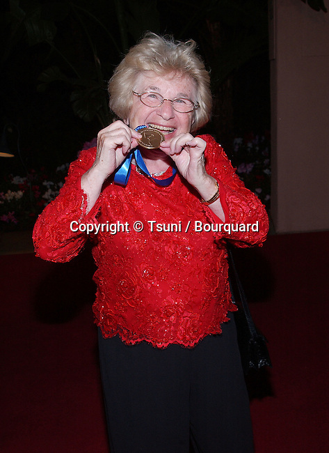 Ruth Weitheimer (she's been nominated)  arriving at the Clive Davis Pre-Grammy party at the Beverly Hills Hotel in Los Angeles. February 26, 2002.           -            WestheimerRuth01.jpg