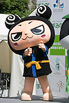 Oedo mascot character Jirokids performs during the ''Local Characters Festival in Sumida 2015'' on May 30, 2015, Tokyo, Japan. The festival is held by Sumida ward, Tokyo Skytree town, the local shopping street and ''Welcome Sumida'' Tourism Office. Approximately 90 characters attended the festival. According to the organizers the event attracts more than 120,000 people every year. The event is held form May 30 to 31. (Photo by Rodrigo Reyes Marin/AFLO)