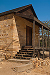 Old stone building from the late 1800's at Knights Ferry, Stanislaus County, California