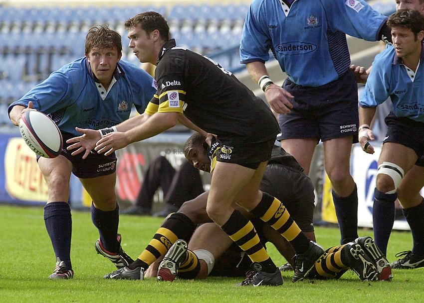 Photo:Ken Brown.3.9.2000 Wasps v Bristol, Zurich Premiership.Martyn Wood.