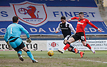 Michael O'Halloran scores the second goal for Rangers