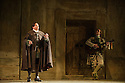 English National Opera presents THE BARBER OF SEVILLE, by Gioachino Rossini, directed by Jonathan Miller, at the London Coliseum. Picture shows: Eleazar Rodriguez (Count Almaviva), Morgan Pearse (Figaro).