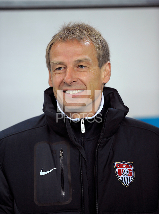 Jurgen Klinsmann, coach of team USA,  during the friendly match Slovenia against USA at the Stozice Stadium in Ljubljana, Slovenia on November 15th, 2011.