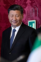 Xi Jinping <br /> Rome March 22nd 2019. The President of the ChineseDemocratic Republic visits the President of the Italian Republic at Quirinale.<br /> photo di Paolo Giandotti/Presidenza della Repubblica/Inside
