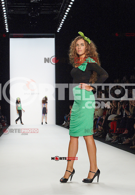 """A model walks the runway at the """"Anja Gockel"""" fashion show during the Mercedes-Benz Fashion Week Berlin Spring/Summer 2013 at the Victory Column in Berlin, 06.07.2012...Credit: Wendt/face to face /MediaPunch Inc. ***FOR USA ONLY*** ***Online Only for USA Weekly Print Magazines***"""