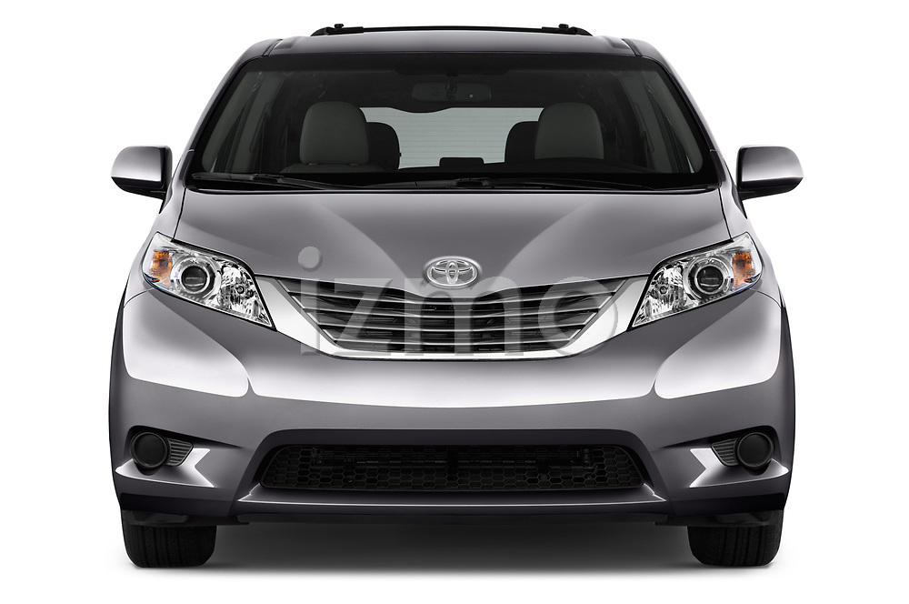 Car photography straight front view of a 2017 Toyota Sienna LE 5 Door Mini Van