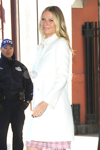 NEW YORK, NY - APRIL 13: Gwyneth Paltrow at CBS This Morning promoting her new cook book It's All Easy: Delicious Weekday Recipes for the Super-Busy Home Cook in New York City on April 13, 2016. Credit: RW/MediaPunch