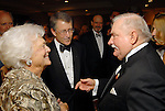 First Lady Barbara Bush, Michael Reardon and Lech Walesa at the Leading Hearts Gala VIP Reception at the Skyline Ballroom at the Hilton Americas downtown Saturday Oct. 24,2009. (Dave Rossman/For the Chronicle)
