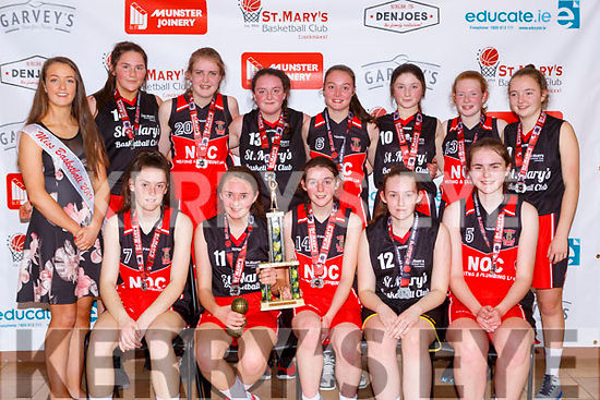 The St Mary's team that won the Girls U16 final at the St Marys 50th Basketball blitz on Monday