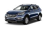 2017 Hyundai Santa-Fe Sport 5 Door SUV Angular Front stock photos of front three quarter view