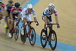 Leung Ka Yu of the X SPEED (L) competes in the Men Elite - Omnium III Elimination category during the Hong Kong Track Cycling National Championships 2017 at the Hong Kong Velodrome on 18 March 2017 in Hong Kong, China. Photo by Chris Wong / Power Sport Images