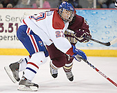 Mike Potacco, Nathan Gerbe - The University of Massachusetts-Lowell River Hawks defeated the Boston College Eagles 6-3 on Saturday, February 25, 2006, at the Paul E. Tsongas Arena in Lowell, MA.