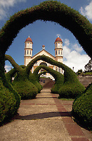 Famous garden on the plaza in front of a church, Zarcero, Costa Rica