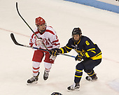 Bobo Carpenter (BU - 14), Alex Carle (Merrimack - 6) - The visiting Merrimack College Warriors defeated the Boston University Terriers 4-1 to complete a regular season sweep on Friday, January 27, 2017, at Agganis Arena in Boston, Massachusetts.The visiting Merrimack College Warriors defeated the Boston University Terriers 4-1 to complete a regular season sweep on Friday, January 27, 2017, at Agganis Arena in Boston, Massachusetts.