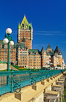 Canada, Quebec, Quebec City. The Dufferrin Terrace and Chateau Frontena