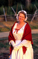 Historical renactment of Colonial life in America, Williamsburg, Virginia.