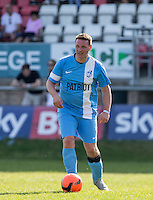 Paul Shelock of Celeb FC during the 'Greatest Show on Turf' Celebrity Event - Once in a Blue Moon Events at the London Borough of Barking and Dagenham Stadium, London, England on 8 May 2016. Photo by Andy Rowland.
