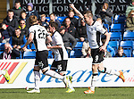 Ross County v St Johnstone…..30.04.16  Global Energy Stadium, Dingwall<br />Steven MacLean celebrates his goal<br />Picture by Graeme Hart.<br />Copyright Perthshire Picture Agency<br />Tel: 01738 623350  Mobile: 07990 594431