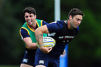 Matt Banahan of Bath Rugby is tackled. Bath Rugby pre-season training session on August 9, 2016 at Farleigh House in Bath, England. Photo by: Patrick Khachfe / Onside Images