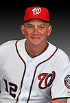 25 February 2011: Greg Booker, Spring Training Instructor for the Washington Nationals, poses for his portrait on Photo Day at Space Coast Stadium in Viera, Florida. Mandatory Credit: Ed Wolfstein Photo