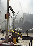 Ground Zero New York City three days after the attack on the World Trade Center in Manhattan.